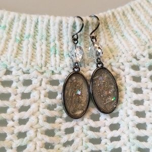 "Jewelry - Iridescent 2"" Fish Hook Earrings"